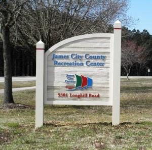 JCC Rec Center Sign