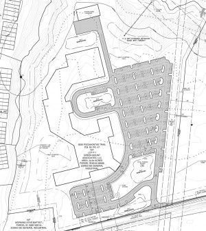 A Drawing Shows One Of Two Proposed Layouts For The Peninsula Pentecostals  Site At 9230 Pocahontas Trail. In Both Layouts, The Building (black  Outlined ...