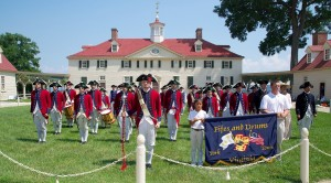 The Fifes and Drums of Yorktown perform at Mt. Vernon in July. (Photo courtesy Genny Beaver)