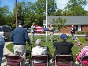 The flag ceremony at Greenfield Senior Living (Submitted)