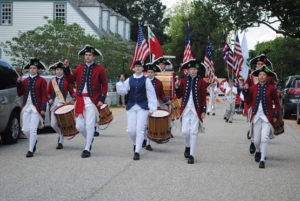 The Fifes and Drums of Yorktown playing near York Hall (Submitted)