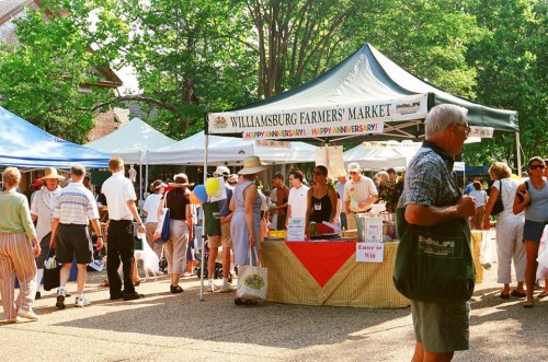 The Williamsburg Farmers Market, one of three regular markets throughout the Historic Triangle (Photo courtesy of the Williamsburg Farmers Market)