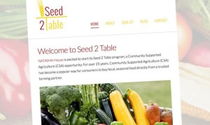 A preview of the Seed to Table website Proximo Marketing Strategies is working on for a new business from the NATASHA House (Photo courtesy of Proximo Marketing)