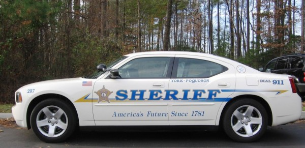 York Sheriff's office vehicle