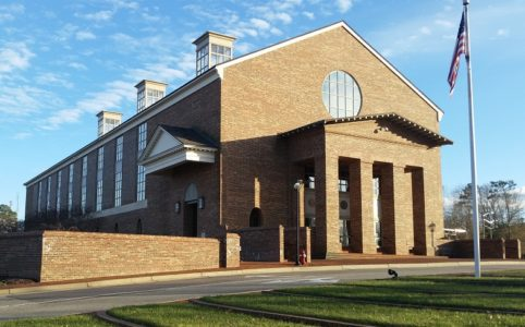 The Williamsburg-James City County Courthouse. (Staff Photo)