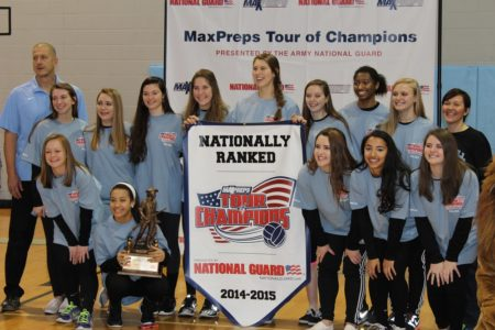 Warhill volleyball team posing