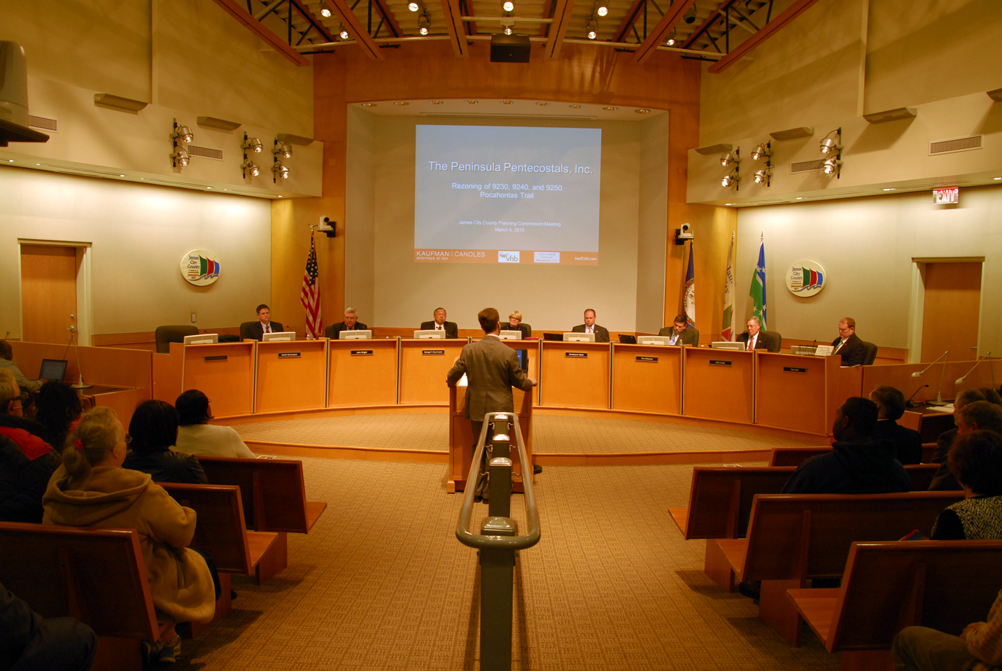 Great A Speaker Addresses The James City County Planning Commission In March. The  Commission Considered The
