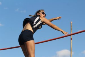 Kathryn Tomczak took home a state championship in the pole vault en route to the Rams claiming a team state championship. (file photo)