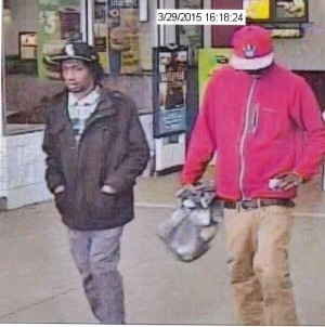 The two men pictured are accused of using a stolen credit card at the Upper York County Walmart (Courtesy YPSO)