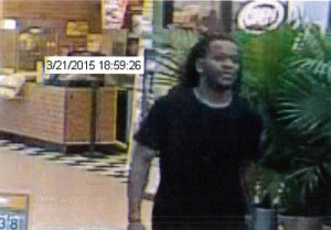 The man pictured is accused of stealing electronics from the Tabb Walmart (Courtesy YPSO)