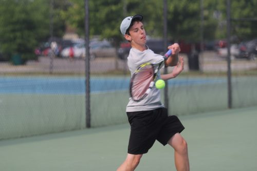 Grayson DeBerry took home the Conference 19 boys singles championship. (Ty Hodges/WYDaily)