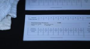 The scorecard of Taiwanese golfer Pornanong Phatlum. (Ty Hodges/WYDaily)