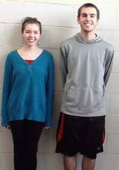 Jamestown students Sydney Snowden (left) and Josh Kaurich were honored for their musical skills. (Courtesy Williamsburg-James City County Schools)