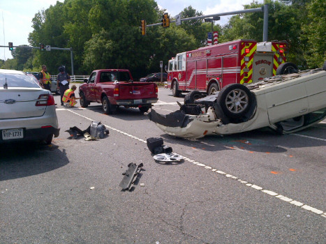 A person was killed in a crash on Monticello Avenue on Tuesday afternoon. (Courtesy Virginia State Police)