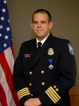Interim James City County Fire Chief Ryan Ashe (Courtesy James City County)