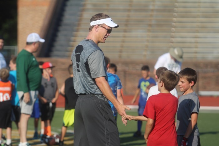 Peyton Manning Headlines Colonial All-Pro Football Camp Day One