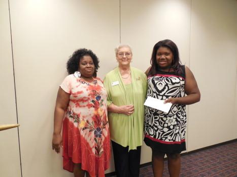 Keyanna Bartlett (far right) was the winner of the Soroptimist Scholarship for 2015. She is pictured here with her mother Angela, and Soroptimist president Willie Mae McCracken.