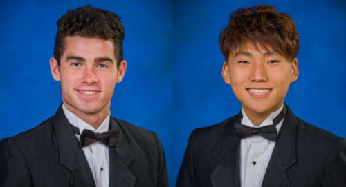 Will Gibson (left) and Junho Oh were selected as Williamsburg Christian Academy's class of 2015 valedictorian and salutatorian, respectively. (Courtesy Williamsburg Christian Academy)