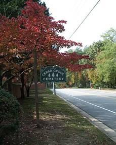 Cedar Grove Cemetery (Courtesy City of Williamsburg)