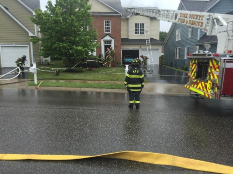 The fire occurred at a home in the 500 block of Shaindel Drive. (Courtesy Williamsburg Fire Department)