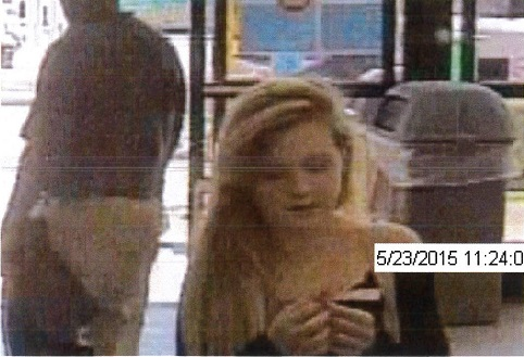 The woman pictured is accused of stealing household items with a man at the Tabb Walmart. (Courtesy YPSO)