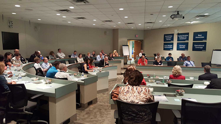Attendees of the conference discussed the benefits of hiring New Horizons graduates, as well as how technical and career education programs in the area can be shaped to better meet their employment needs.
