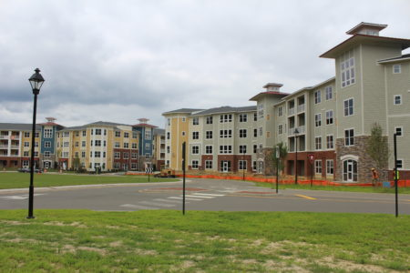 The first residential units at Quarterpath at Williamsburg came online in early July. (Ian Brickey/WYDaily)
