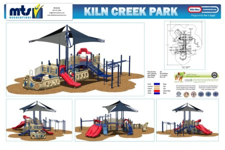 A rendering of the new playground shows off some of the new features. (Photo courtesy of York County)