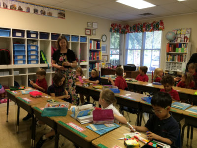 Students returned to class at Providence Classical School Monday. (Courtesy Providence Classical School)