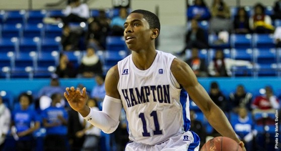 Former WCA hoops star Deron Powers is picking up right where he left off as a freshman last season when he was named the MEAC Rookie of the Year. (Photo courtesy hamptonpirates.com)