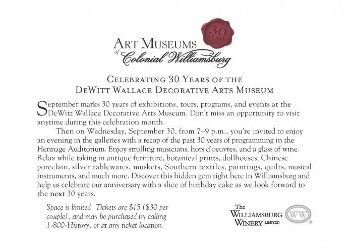 DeWitt Wallace 30 Years