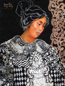 Ledbetter's portraits of Mayan women are inspired by her real-life travels. (Courtesy Prince George Art and Frame)