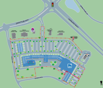 A site plan for Williamsburg Crossing. (Courtesy Thalhimer)