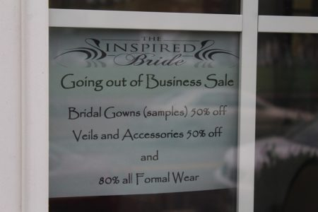 The Inspired Bride is holding a going out of business sale. (Ty Hodges/WYDaily)