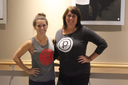 """Mother-and-daughter co-owners Amy and Terri Perkinson hope to """"create a space that is very welcoming"""" at their new Pure Barre studio. (Elizabeth Hornsby/WYDaily)"""