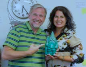 Randy and Anne Hisle took home first place in Work Nimbly's point-based scavenger hunt competition. (Courtesy Work Nimbly)