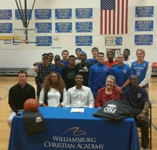 Xavier Green formally committed to play basketball at Old Dominion University. (Photo courtesy of WCA Athletics)