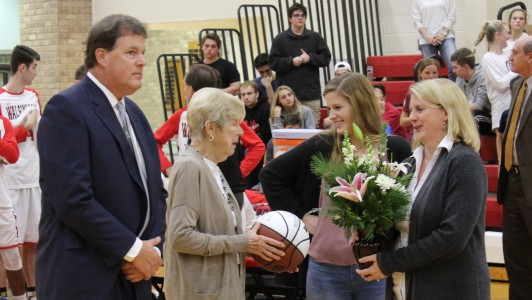 Billy Barnes was honored for winning his 400th career game at Walsingham Academy. (submitted)