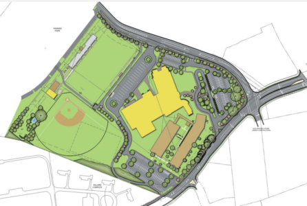 Conceptual art for the fourth WJCC middle school, as presented during the Dec. 15, 2015 School Board meeting. (Image courtesy of Waller, Todd & Sadler Architects)