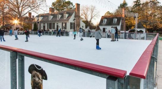 Skaters enjoy Liberty's Ice Pavilion on Duke of Gloucester Street.