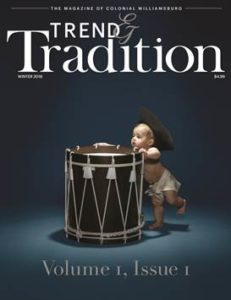 The first issue of Colonial WIlliamsburg's new quarterly magazine. (Courtesy Colonial Williamsburg Foundation)