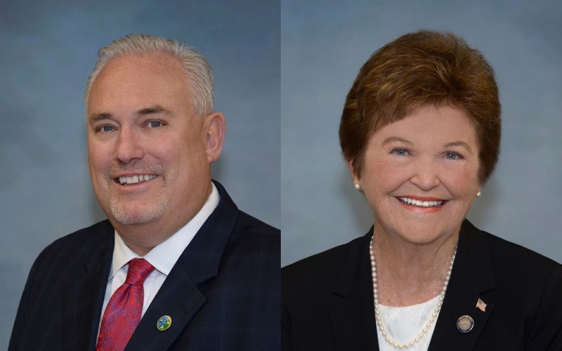 Supervisors Jeff Wassmer (District 4) and Sheila Noll (District 2) will serve as chairman and vice chairwoman of the York County Board of Supervisors in 2016. (Courtesy of York County)