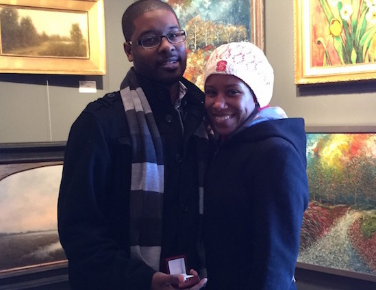 Visiting Couple Gets Engaged at Williamsburg Art Gallery