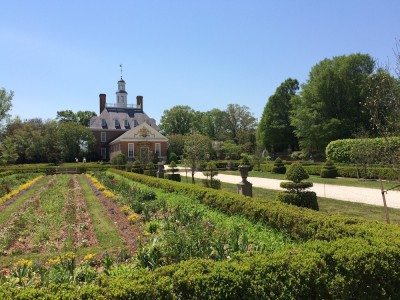 The Governor's Palace formal gardens were the site of some landscaping renovations this winter. (Courtesy Joseph Straw/Colonial Williamsburg)