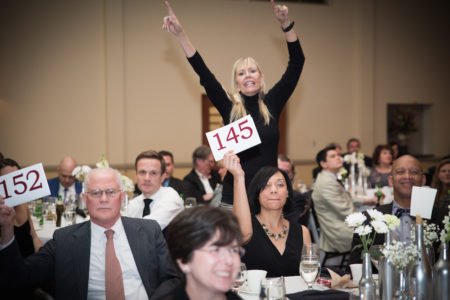 Walsingham's annual fundraiser included both a silent and live auction component. (Courtesy Walsingham Academy)