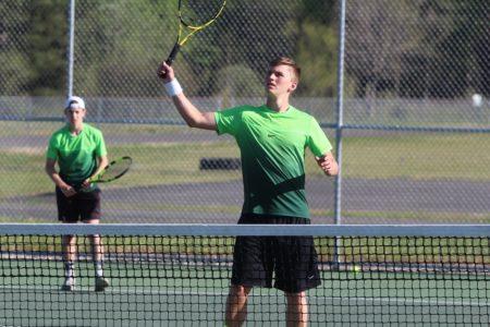 Brad Mahaffey earned a narrow win at No. 3 singles. (file photo)