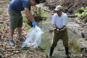 Del. Monty Mason and a group of volunteers will clean up a section of College Creek on April 16. (Courtesy Del. Monty Mason)
