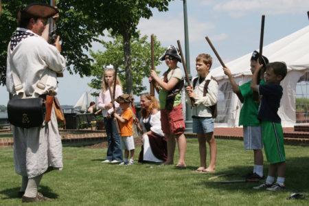 "Kids participate in ""pirate school."" (Courtesy York County)"