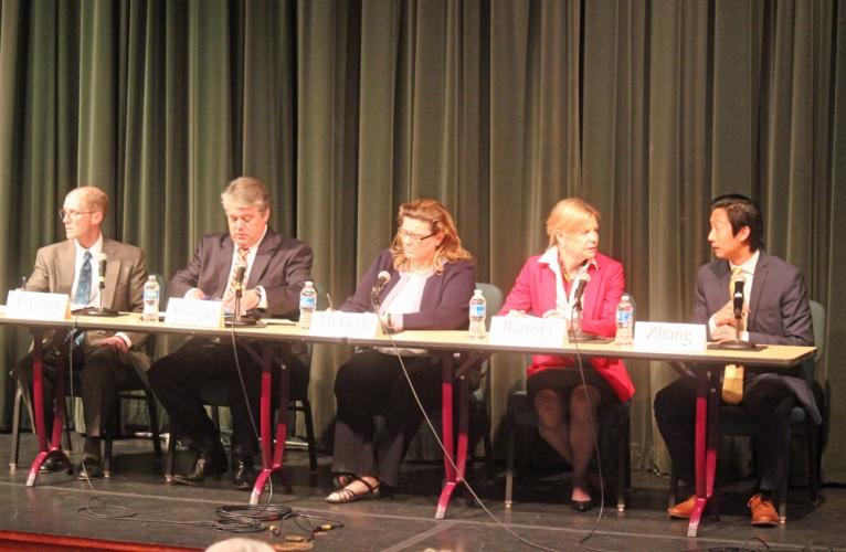 (From left to right) Vice Mayor Paul Freiling, Greg Granger, Elaine McBeth, Barbara Ramsey, Benming Zhang.
