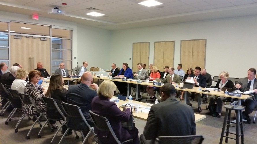 The Williamsburg-James City County School Board, Williamsburg City Council and the James City County Board of Supervisors met at the Stryker Center on April 22, 2016. (Nicole Trifone/WYDaily)